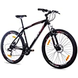 KCP 27,5 Zoll Mountainbike Fahrrad - GARRIOT schwarz - Mountain Bike mit Gabel-Federung für Herren und Jungen, MTB Hardtail mit 21 Gang Shimano Schaltung und Scheibenbremsen vorne und hinten