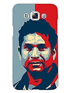Sir Sachin Tendulkar - Hard Back Case Cover for Samsung E7 - Superior Matte Finish - HD Printed Cases and Covers