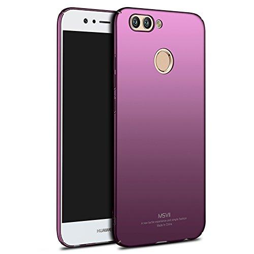 Coque Huawei nova 2, MSVII® Très Mince Coque Etui Housse Case et Protecteur écran Pour Huawei nova 2 (Pas compatible avec Huawei nova) - Noir JY00226 Violet