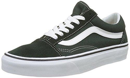 Vans Unisex-Erwachsene Old Skool Suede/Canvas Sneaker, Grün (Scarab/True White), 43 EU