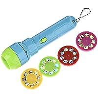 Brightcactus Proyector para niños,Story Proyector para linterna Baby Flashlight Toys, 4 temas para 32 imágenes, Baby Bedtime Story Toys [Clase de eficiencia energética A+]