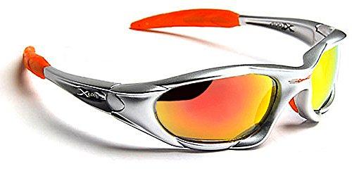 Preisvergleich Produktbild X-Loop Sonnenbrillen - Sport - Radfahren - MTB - Skifahren - Moto - Kajak - Squash / Mod. 010P Orange Grau Spektrum