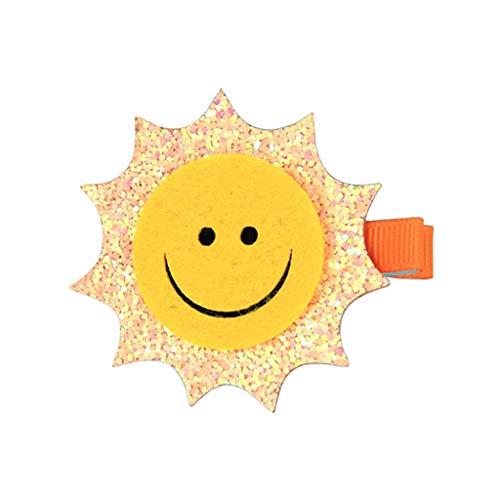 (Kimruida Cute Filz Kinder Haarspange 1Pc Shiny Sun Moon Rainbow Wolke Haarnadel Haarspange Party)