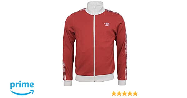 7f65e425 Mens Umbro Retro Taped Full Zip Track Top Jackets In Red / White:  Amazon.co.uk: Clothing