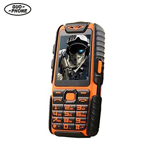 GUOPHONE A6 Téléphones Portables Debloqué Pas Cher 2.4' IP68 étanche Antichoc Dual SIM Téléphone Mobile Qualité Militaire Longue Attente pour Les Personnes âgées/Orang
