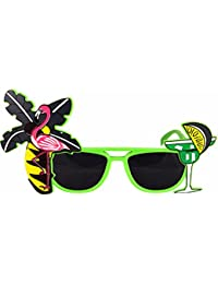 Fancy Dress Hawaiian Beach Party Tropical Coloured Sunglasses Flamingo Cocktail Tequila Birthday Stag Hen Festival Filler