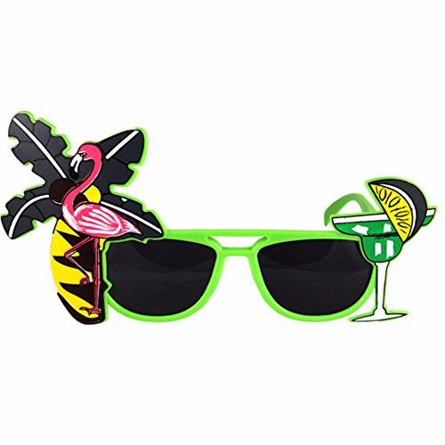 Kostüm Hawaiianische Strandparty Tropisch Gefärbtes Sonnenbrillen (Winkel Dunkle Kostüme)