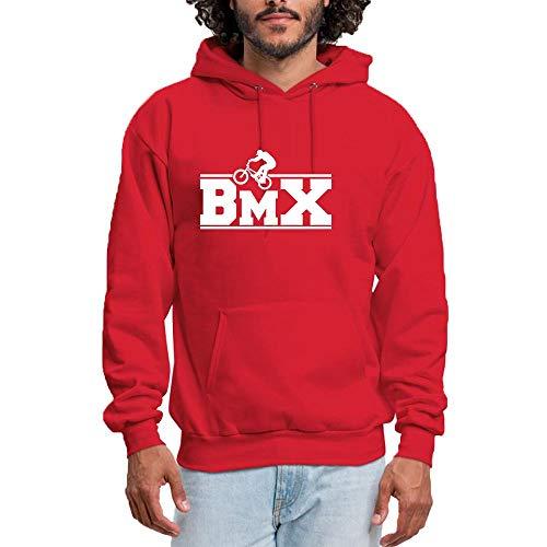 SHENMAHU Damen Kapuzenpullover Outdoor Sports BMX Logo - Classic & Comfortable Pullover Hoodie Sweatshirt Red XL