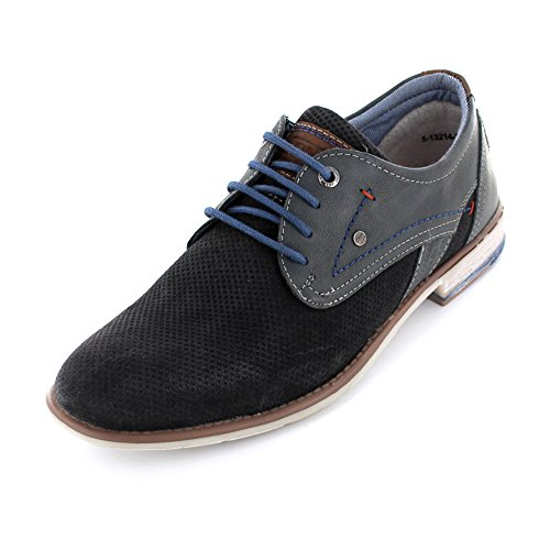 oliver Escuro Homens Sapato De 5 Sapato Sapatos Homens Terno Cinza S 28 Calçado Elegantes Schnürhalbschuh 5 Couro 13214 Para Negócio Derbyschnürung 5qwppf