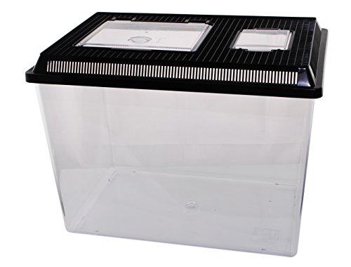 Dragon Neu PET-PLAZA Kunststoffbox - Faunarium - Kunststoffterrarium - Faunabox - Insektenbox - Insektenterrarium - Box für Futterinsekten (46 x 30,5 x 33,5cm)