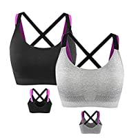Bobela Women Padded Sport Bra Mild Impact Crop Top Vest Undershirts for Fitness Exercise and Aerobic Exercise