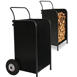 Chariot bois chariot b ches 2 en 1 rangement chariot cuis - Chariot a bois buche ...