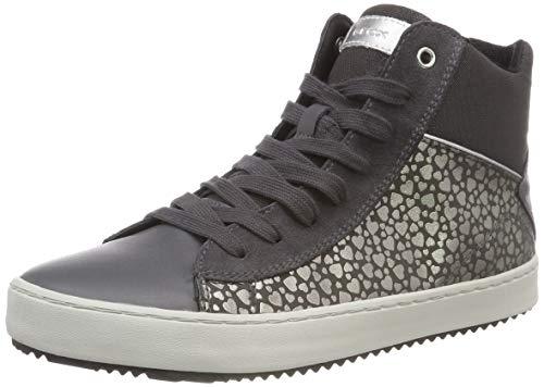 Geox Mädchen J Kalispera Girl D Hohe Sneaker, Grau (Dk Grey C9002), 36 EU