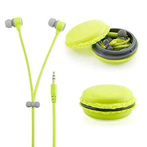 Box, Apple Ipod (zerowin Cute 3,5mm In-Ear-Kopfhörer in-Ear Headset mit Macaron Kopfhörer Organizer Box Case für iPhone, für Samsung, für MP3iPod PC Musik)