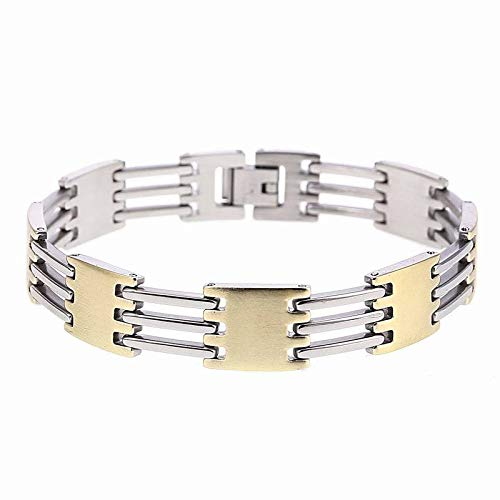 SGRMYS Armband - Modern Style Fashion Herren Edelstahl Überzug Gold Geländer Armband Edlen - Modern Style Dance Kostüm