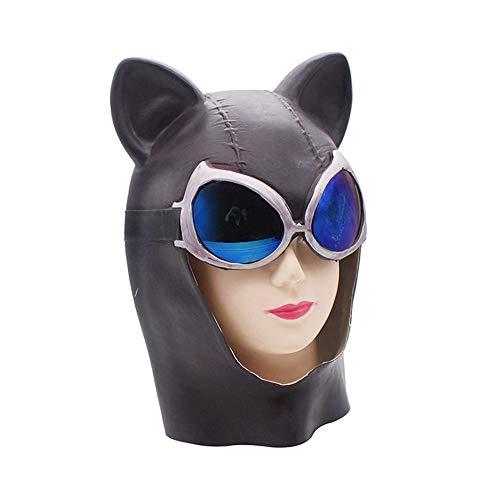 Kostüm Weiblicher Dämon - Hjhjghj Latex Party Maske Lustige Halloween-Horror-sexy Katzen-weibliches Gesichts-Hörner-Fox-Dämon-Katzen-Gesichtsmaske