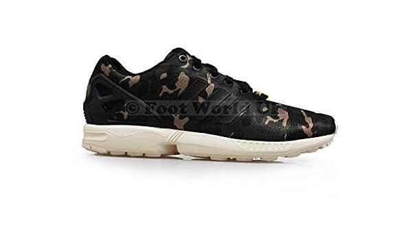 competitive price fe88c 054ca adidas pour Homme - ZX Flux Camo  Rare  - Vert Noir - - Colour Green  Black, Amazon.fr Chaussures et Sacs