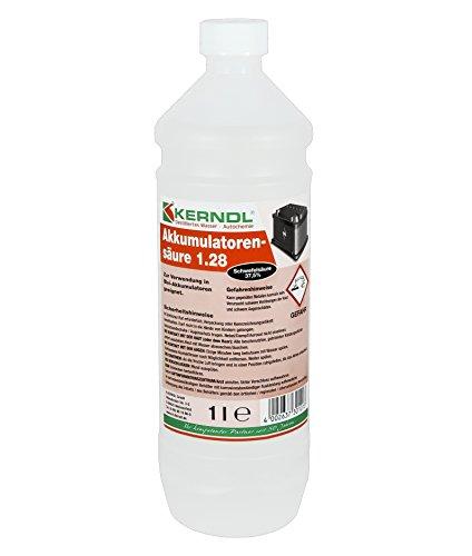 Batteriesäure 1 Liter Flasche ( 37% Schwefelsäure ) - für 12V Batterien - Besonders geeignet für Weidezaun-Batterien -