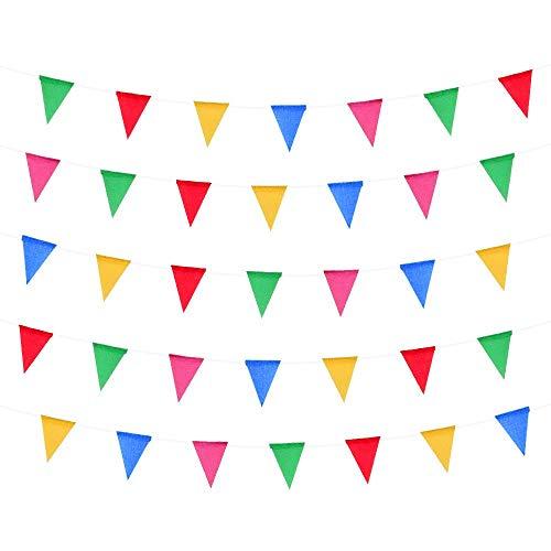 te, 50 m, Mehrfarbig, 75 große Flaggen, doppelseitiges Material, für drinnen und draußen, Party-Dekoration ()