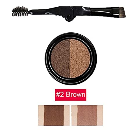 ROMANTIC BEAR Eyebrow Stamp for Perfect Eyebrow Natural-looking Eyebrows Enhancer (Brown-1)