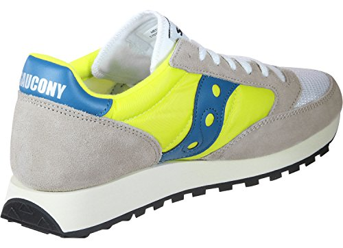 Saucony Jazz Original Vintage, Zapatillas de Cross Unisex Adulto, Blanco (White/Neon Yellow 18), 43 EU