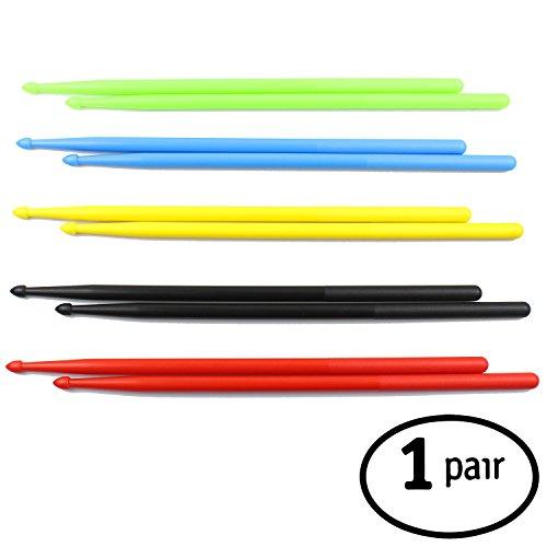 FITSTIX Drumsticks für Fitness & Aerobic, Workout Classes, Schlagzeugstöcke, starkes und leichtes Design machen eine lustige Ergänzung für jede Übungsroutine oder Klasse. ☞ 5a BLACK Without PowerGrip