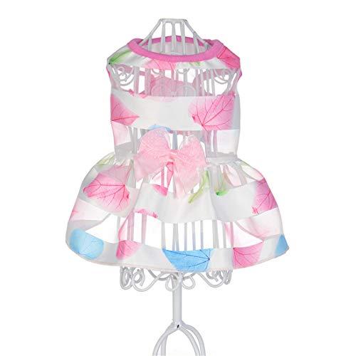 PZSSXDZW Pet Kleidung Frühling und Sommer Feenrock Hundebekleidung Pet Kleidung Heimtierbedarf Pink Large