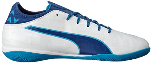 Puma Evotouch 3 It, Chaussures de Football Homme Blanc (Puma White-true Blue-blue Danube 02)