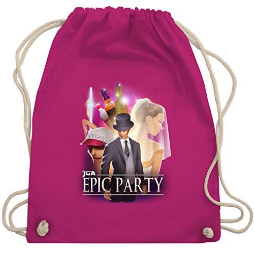JGA Junggesellenabschied - JGA Epic Party Filmposter - Unisize - Fuchsia - WM110 - Turnbeutel & Gym Bag (Party Vegas Kostüm Ideen)