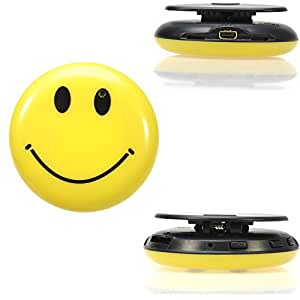 Tukzer® Mini Caméra Espion Smile Face Mini DV Spy Caméra Cachée dans Badge Smiley Magnétoscope Numérique