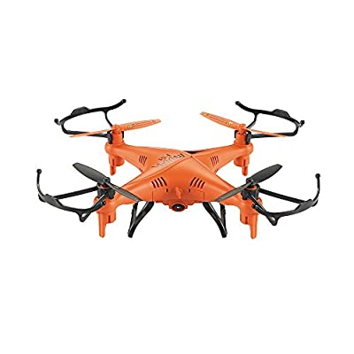 GPTOYS F51 RC Drone With 2.0 MP HD Camera Quadcopter Helicopter 2.4GHz 4 Channel 6 Axis Gyro System Remote Control Flip Fly UAV RTF UFO 3D Rotation 360 Degree Eversion LED Headless One Key Control Christmas Gift Toys - Orange