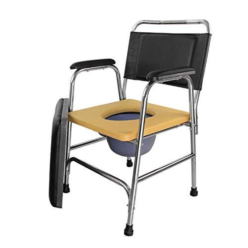 SXRL Toilettenstuhl Nachtstuhl, Pflege Duschstuhl Abnehmbarer Eimer Und Sitzplätze Für Ältere Menschen