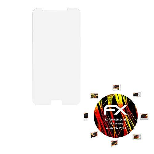 atFolix Schutzfolie kompatibel mit Samsung Galaxy On7 Prime Bildschirmschutzfolie, HD-Entspiegelung FX Folie (3X)