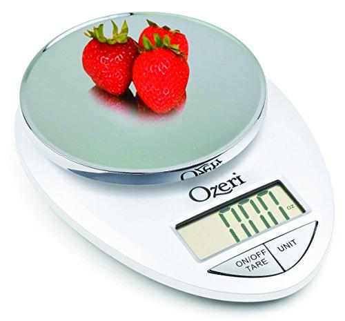 (White) - Ozeri ZK12-W Pro Digital Kitchen Food Scale, 1g/12 lb, White (Oxo-digital-skala)