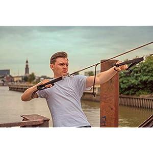 BodyCROSS Schlingentrainer mit Umlenkrolle, Türanker und Befestigungsschlaufe von BodyCROSS | Individuelle Ausstattung und Farbe wählbar | Ganzkörpertraining | 10 Jahre Garantie