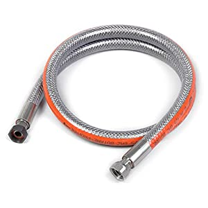 Home Gaz GAZ300 Flexible Stainless Steel Butane/Propane Pipe 2m No Expiry Date