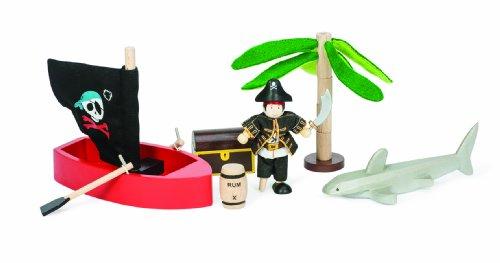 Le Toy Van Piraten-Insel aus Holz Jungen Mädchen - Palmen Vans