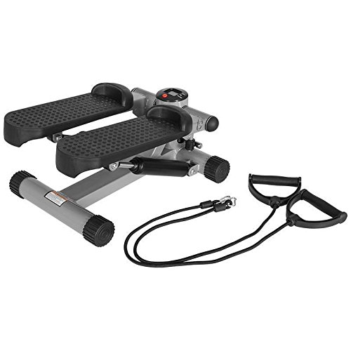 Gorilla Sports Mini Stepper mit Expander Trainingscomputer, One size, 10000525