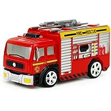 Juguetes educativos,Internet Carro de control remoto RC Camión de bomberos de rescate Juguete rojo para niños Regalo de Navidad (Rojo, A)