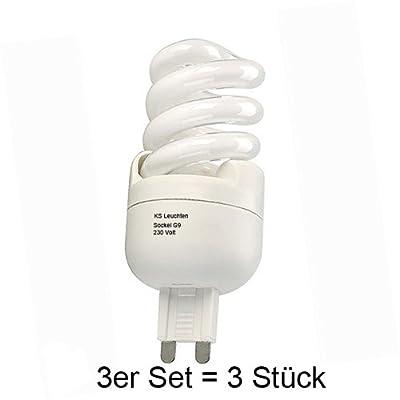 3er Set Energiesparlampe G9 (3 Stück) 7W 2700K warmweiß von SLV bei Lampenhans.de