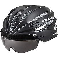 CARWORD Casco De Bicicleta con Gafas Magnéticas Desmontables Bicicleta De Carretera Cascos De Seguridad para Adultos