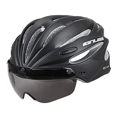 CARWORD Fahrradhelm Mit Abnehmbarer Magnet Brille Straßen Fahrradhelme Erwachsenenschutz Und Atmungsaktiv