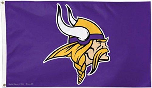 Flagge NFL Minnesota Vikings - 90 x 150 cm, + gratis Aufkleber, Flaggenfritze®