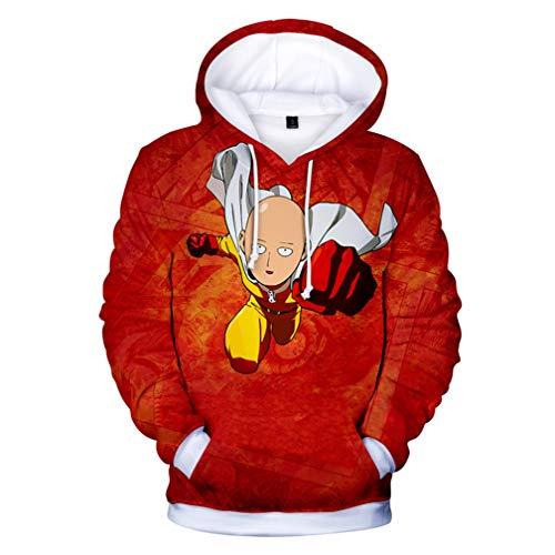 Cosstars One Punch Man Anime Sudaderas con Capucha Adulto Cosplay 3D Impreso Pullover Hoodie Sweatshirt Outwear Abrigo Suéter 4 M