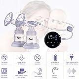 Touch Screen Elektrische Milchpumpe Einzel Doppel Nippel Saugautomatische Muttermilchpumpen Für Mutterschaft Pflege Zubehör, weißes licht