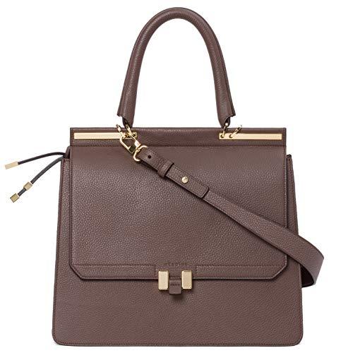 Marlene Laptop 15 Zoll | Handtasche | Damen | Braun/Braun | Umhängetasche | Leder | Schultertasche