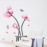 Kicode Flor Lotus DIY Etiqueta engomada de la Etiqueta del Arte de la Pared Vinilo Extraíble Mural de Papel Moda casera