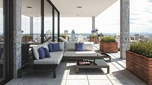 ARTELIA Valentino M Luxus Loungemöbel Set - Aluminium Premium Gartenmöbel Set für Terrasse, Garten und Wintergarten, Terrassenmöbel Anthrazit