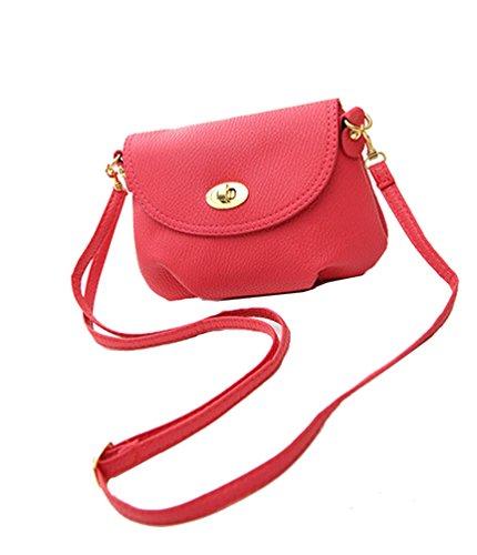 aimerfeel Damen mini kleine Handtasche Crossbody Schulter Umhängetasche, pink -