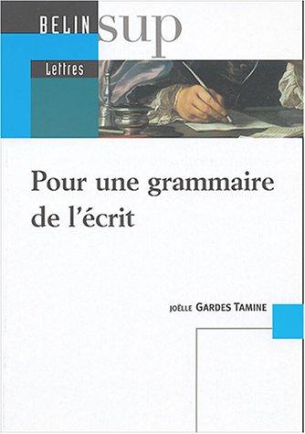 Pour une grammaire de l'écrit